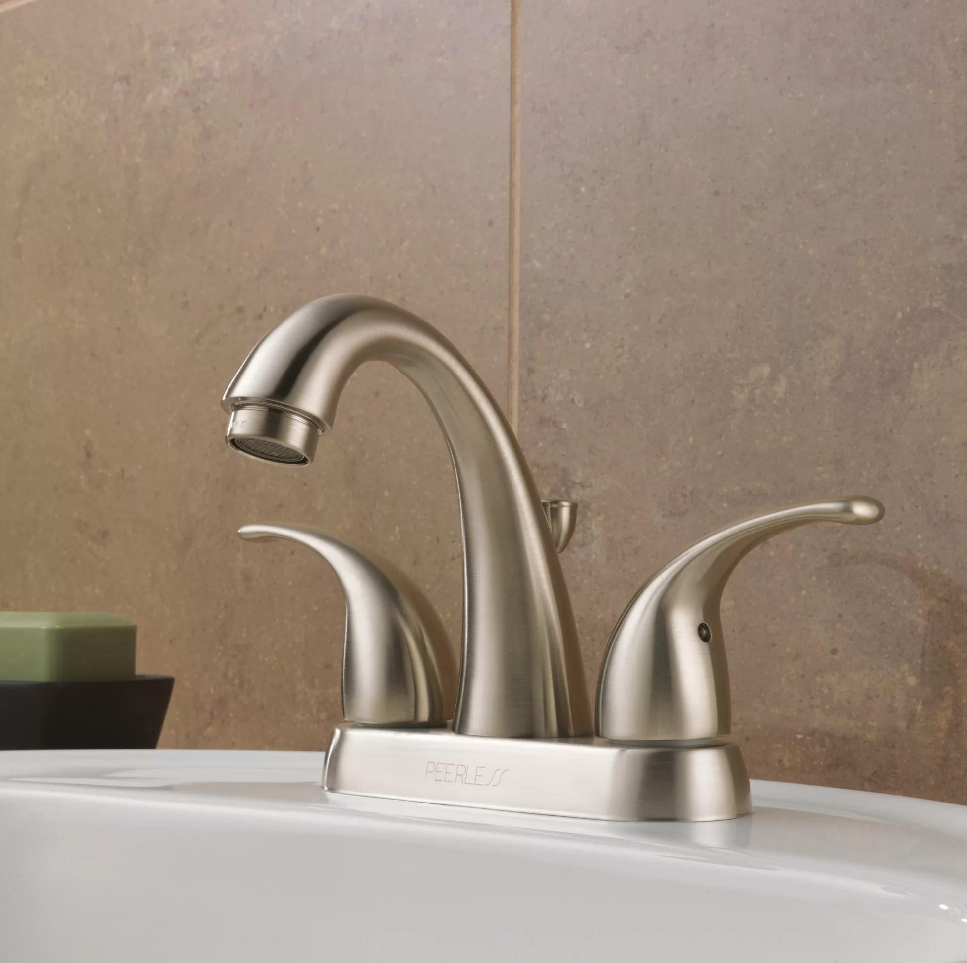 peerless faucets centerset bathroom faucet with reviews wayfair