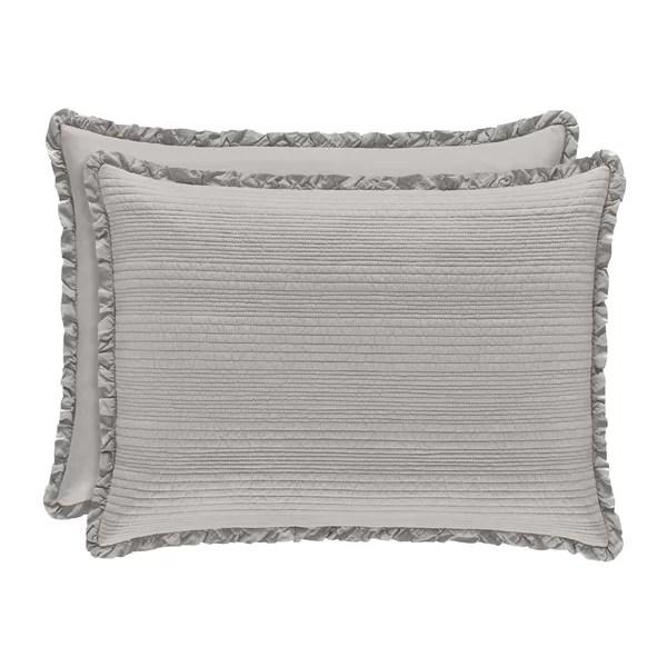 gray silver pillow shams euro shams
