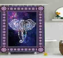 Azariah Space Galaxy Elephant Shower Curtain Hooks