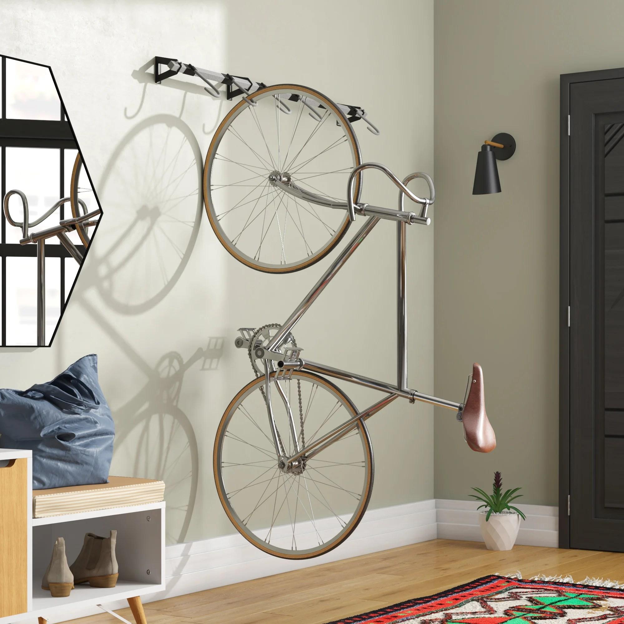 monkey bars wall mounted bike rack