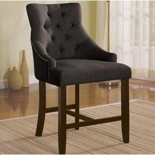 counter height arm chairs danish modern chair blaisdell wayfair save
