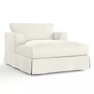 white chaise chair blue striped lounge chairs you ll love wayfair dores