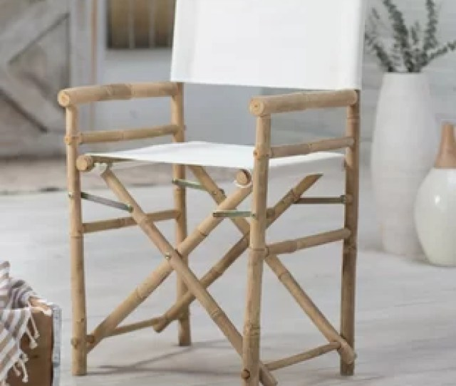 Jolicia Hand Crafted Outdoor Indoor Bamboo Director Chair Set Of