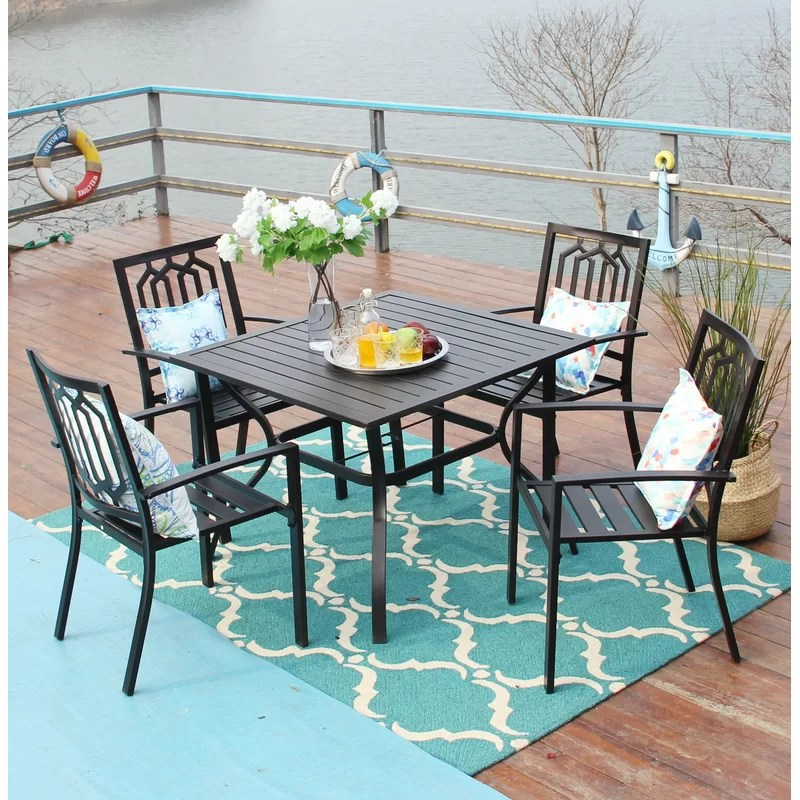 square 4 person 37 long dining set