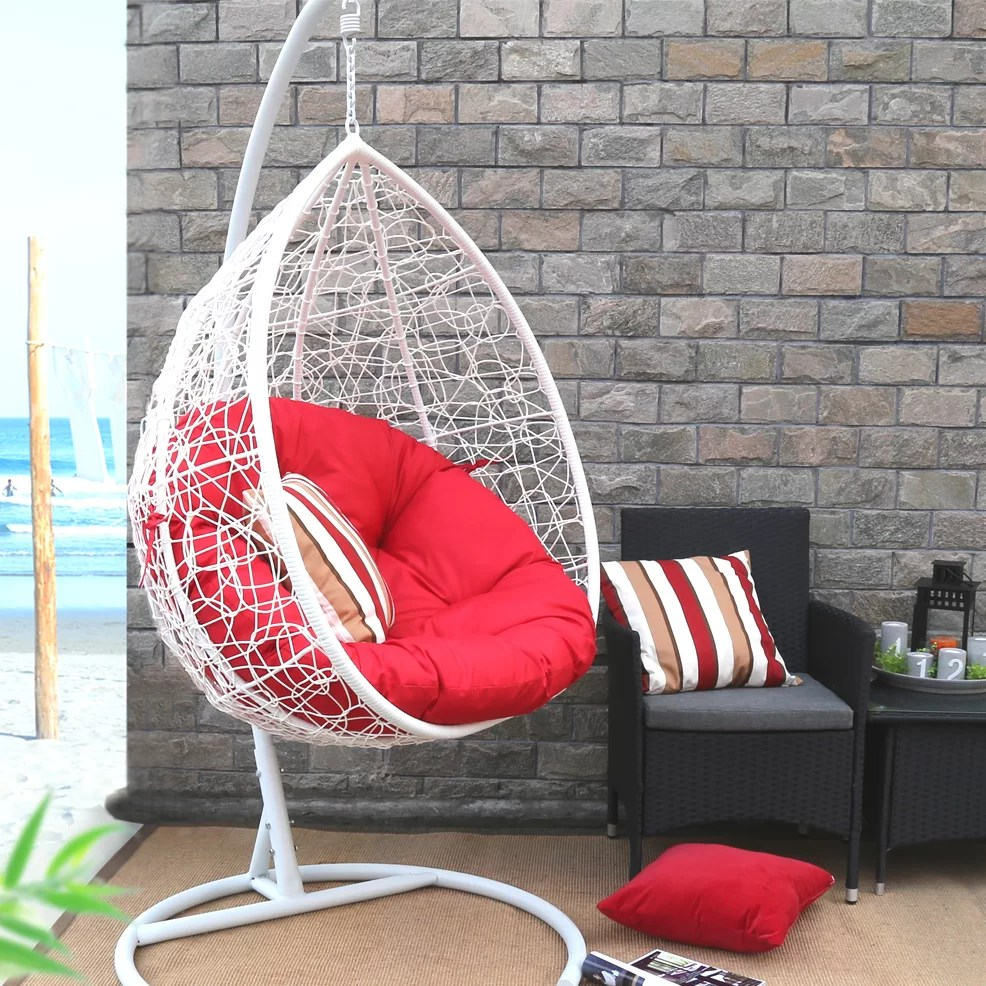 Egg Swing Chairs Oval Egg Hanging Patio Swing Chair
