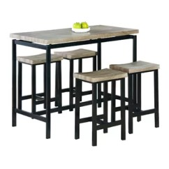 Kitchen Bar Table Sets Island With Leaf Modern Pub Tables Allmodern Bourges 5 Piece Set