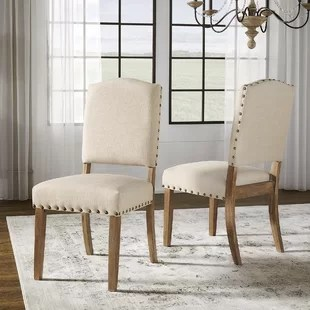 dining chairs with arms upholstered childrens rocking chair cushions extra tall back wayfair quickview