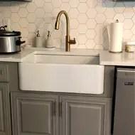 30 l x 18 w fireclay farmhouse reversible kitchen sink