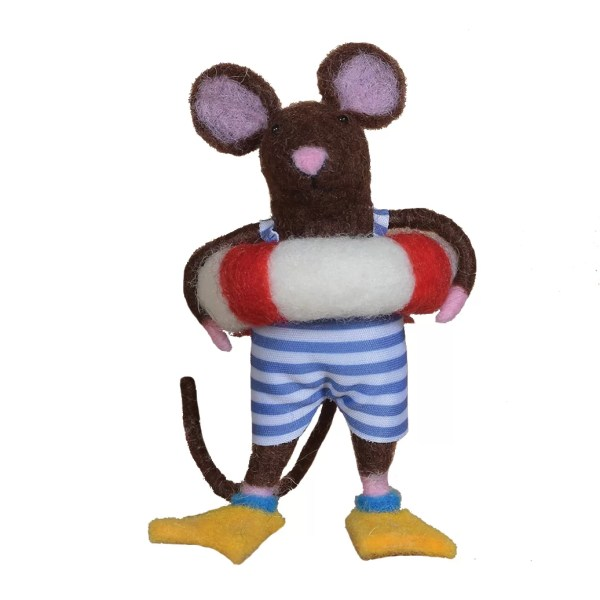 Holiday Aisle Swimmer Guy Mouse Ornament Hanging
