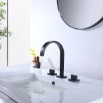 Modland Widespread 2 Handle Contemporary Bathroom Sink Faucet Lavatory Faucet In Matte Black Lead Free Wayfair Ca