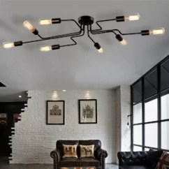 Ceiling Light Fixtures For Living Room Pacific Coffee Table Trunk Chest Flush Mount Lighting You Ll Love Wayfair Steel Art 8 Semi