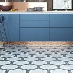 Cement Tile Kitchen Cabinet Hardware Trends At Great Prices Wayfair Mealu Encaustic 8 X 9 In Black Gray Set Of 4