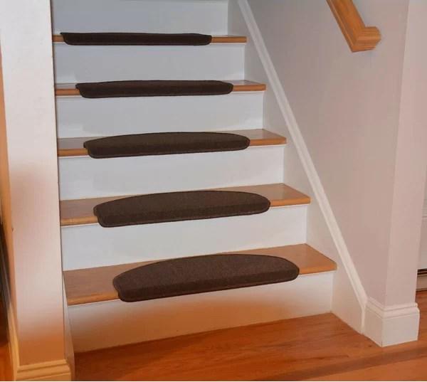 Bullnose Stair Carpet Treads Wayfair | 36 Inch Carpet Stair Treads | Attachable Indoor | Walmart | Basement Stairs | Vanilla Cream | Pet Friendly