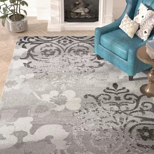 grey living room area rugs microfiber chairs 9 x 12 you ll love wayfair ca frizzell silver ivory rug