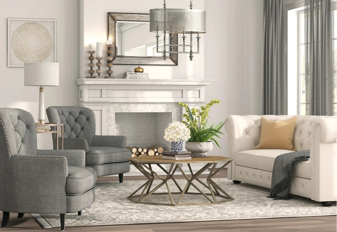 Traditional Living Room Design Photo by Wayfair   Wayfair