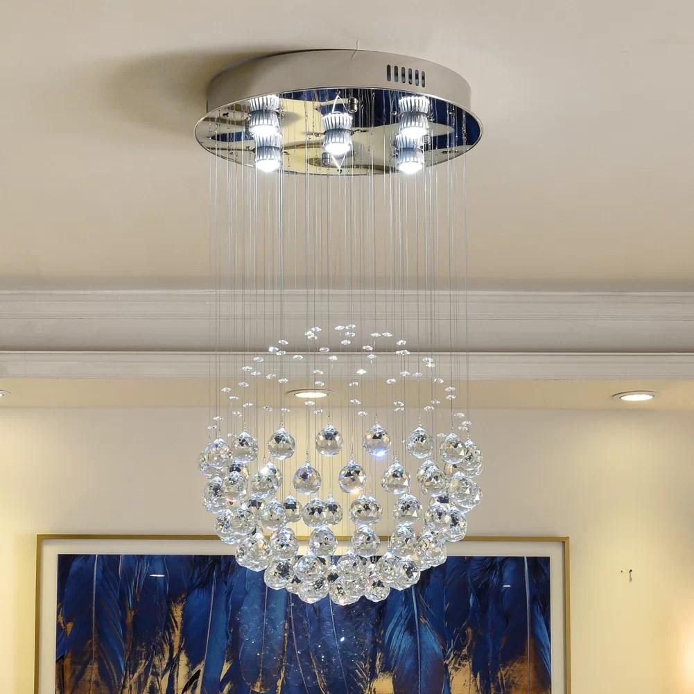 cece 5 light unique globe chandelier
