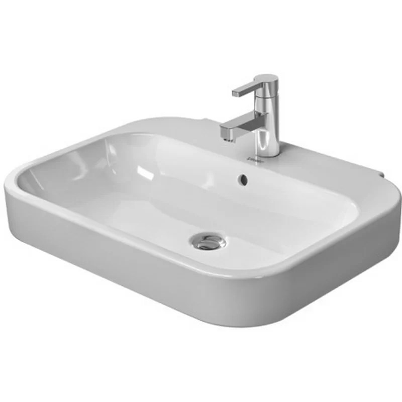 Happy D. Ceramic 24 Wall Mount Bathroom Sink with Overflow