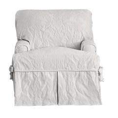 White Chair Slipcover T Cushion Burnt Orange Armchair Uk Sure Fit Matelasse Damask Reviews Wayfair