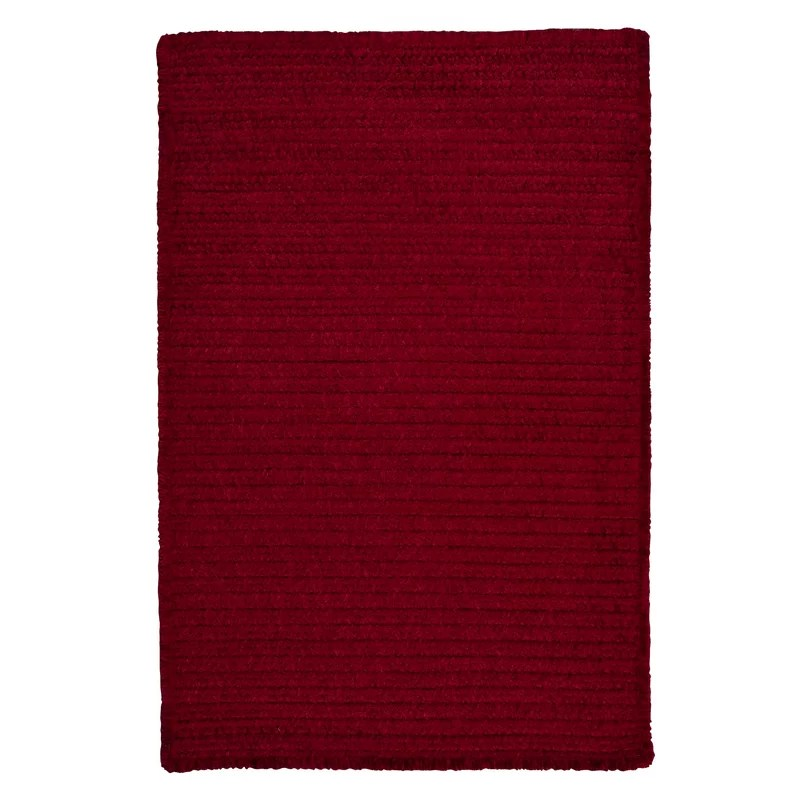 Solid Chenille Sangria Area Rug Rug Size: Square 4
