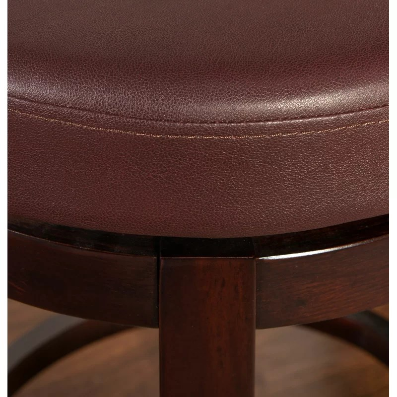 Brown Leather Bar Stool Swivel