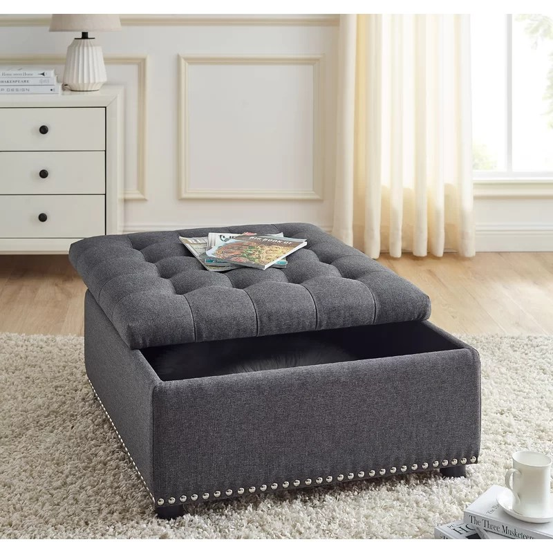 damina 30 tufted square storage ottoman