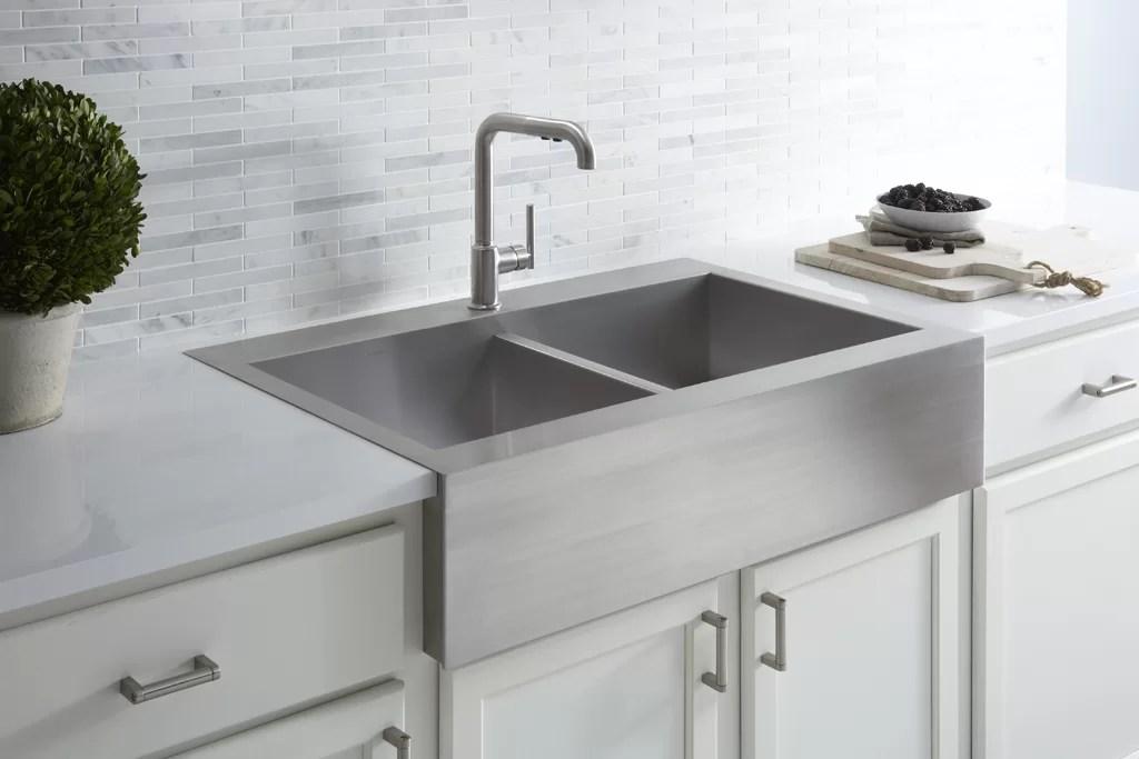 vault 36 l x 24 w double basins farmhouse kitchen sink