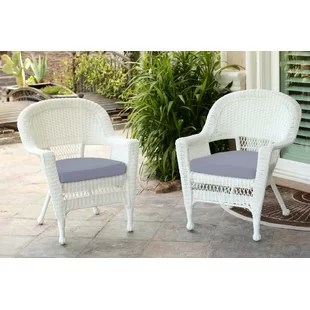 round wicker chair steel base manufacturer wayfair burrowes with cushion set of 2
