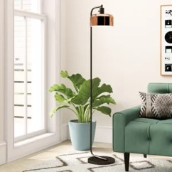 Living Room Floor Lamp Double Curtains For Lamps You Ll Love Wayfair Ca Save