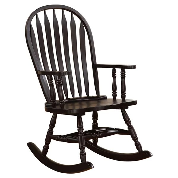 white wood rocking chair french bentwood cafe chairs you ll love wayfair
