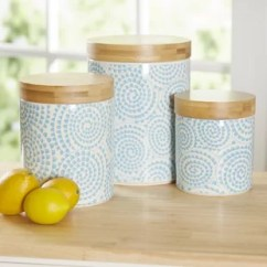 Canisters Kitchen Chalkboard Ideas Jars You Ll Love Wayfair Ca Hannan 3 Piece Canister Set