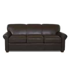 Brown Leather Studded Sofa Modern Recliner Wayfair Ca Save