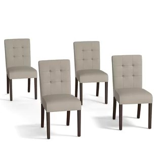 set of 4 dining chairs velvet arm chair modern contemporary low back allmodern quickview