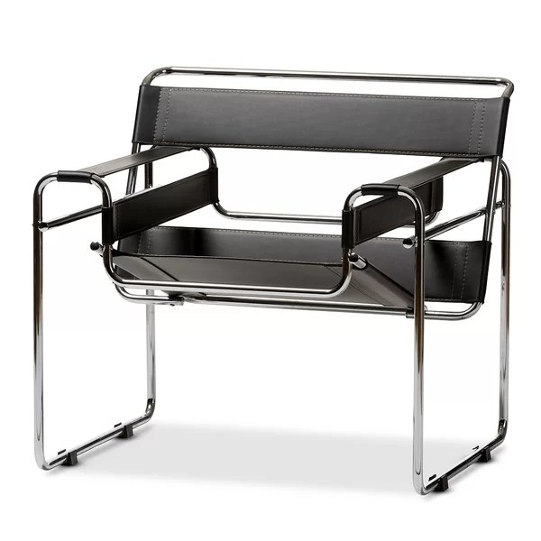 rialto black bonded leather chair sheepskin covers canada modern contemporary allmodern