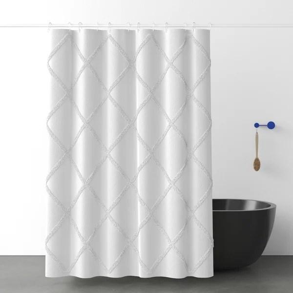 modern contemporary bathroom shower curtain set