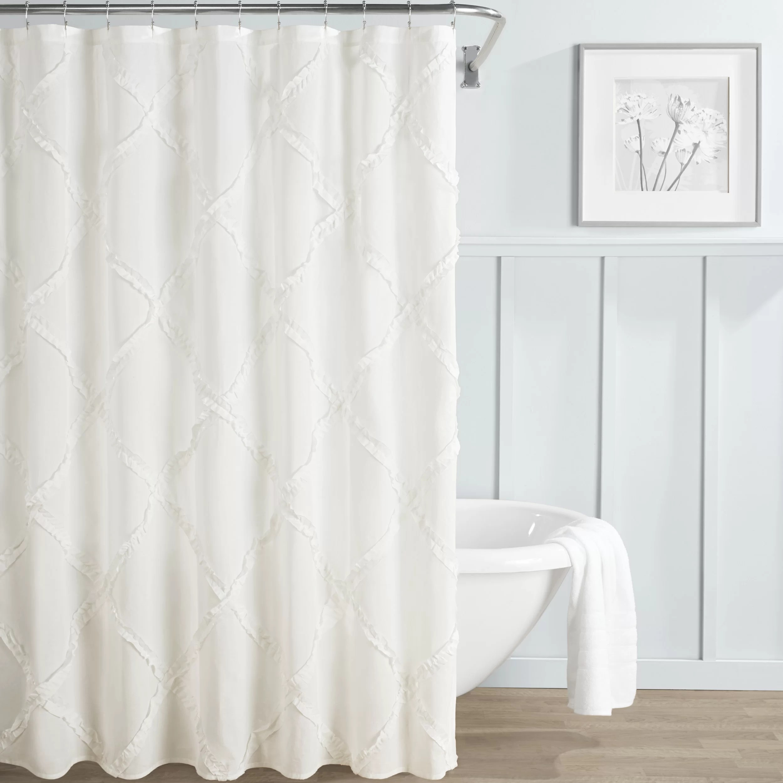 Adelina 100 Cotton Single Shower Curtain