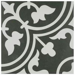 artea 10 x 10 porcelain patterned wall floor tile