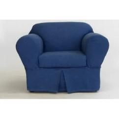 Blue Wingback Chair Slipcovers Folding Types 2 Piece Wing Slipcover Wayfair Box Cushion