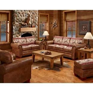 rustic living rooms cabin room furniture sets you ll love wayfair deer valley 4 piece set