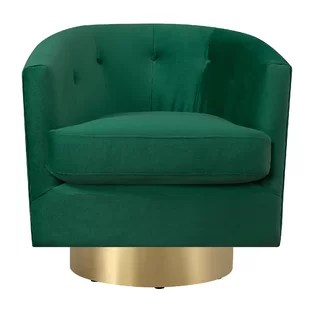 green velvet swivel chair medical toilet wayfair quickview