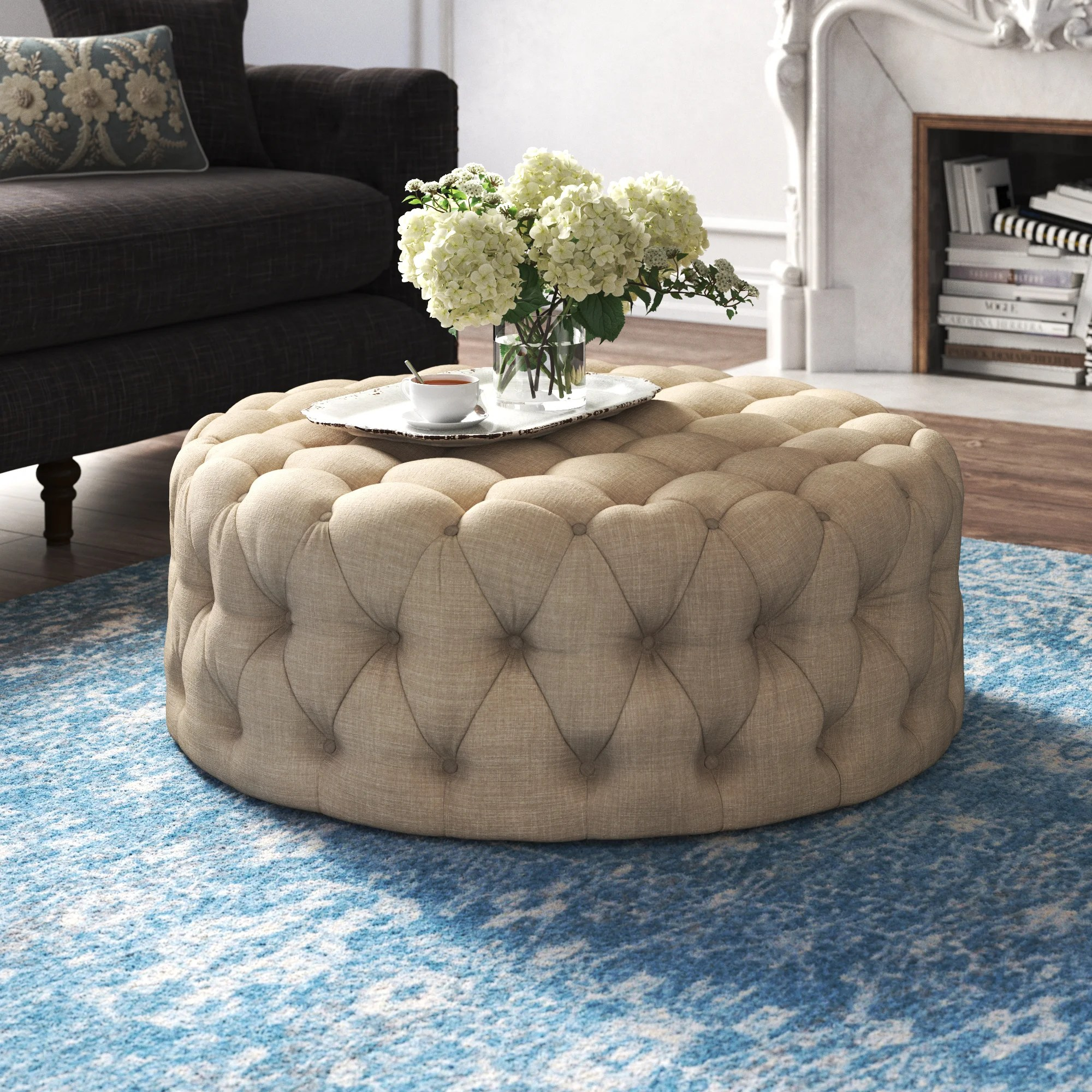 round upholstered coffee tables free