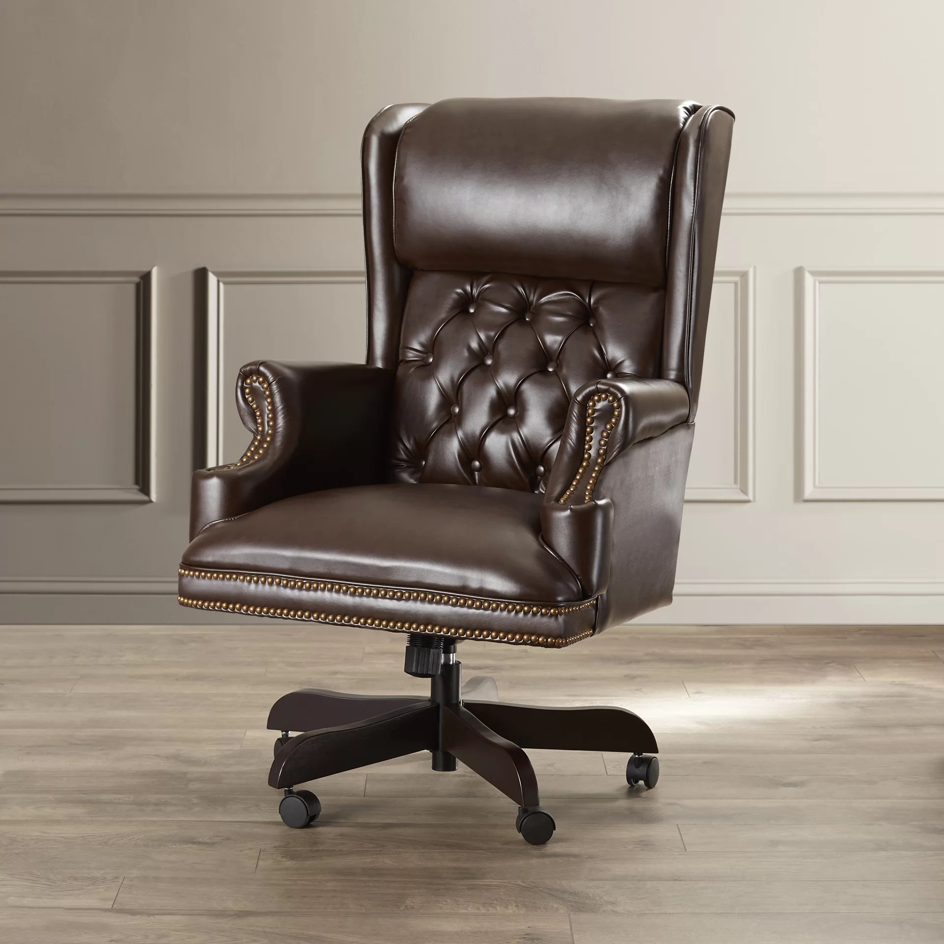 Tufted Leather Office Chair Brassie Executive Chair