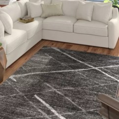 Grey Living Room Area Rugs Casual Decor Silver You Ll Love Wayfair Ca Mcphee Rug
