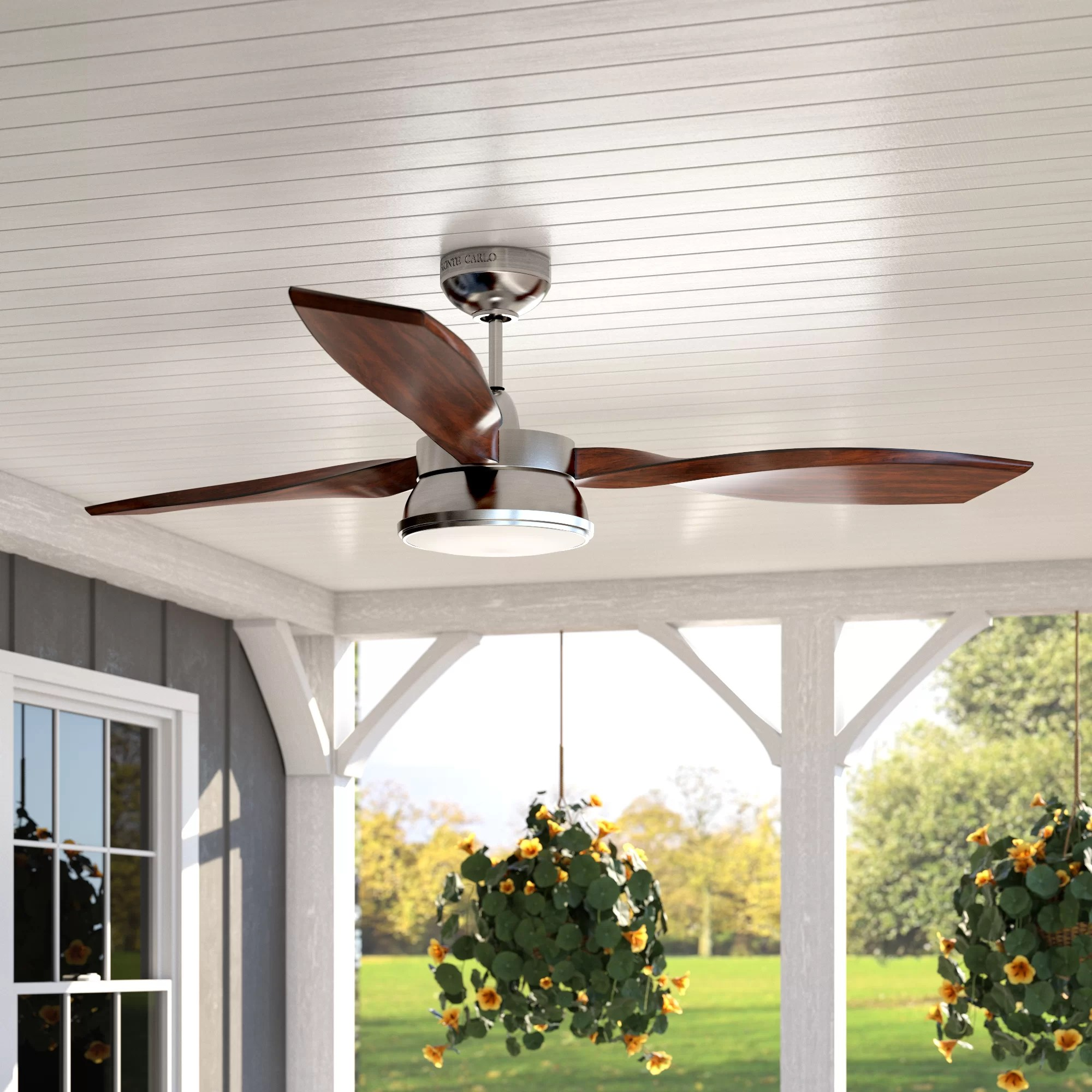 Laurel Foundry Modern Farmhouse 57 Fougeres 3 Blade Standard Ceiling Fan With Remote Control And Light Kit Included Reviews Wayfair
