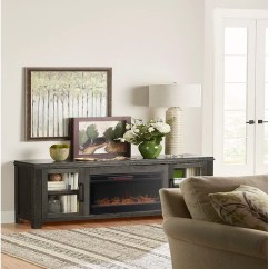 Living Room Fireplace And Tv Interior Design Curtain Ideas Brown Furniture Gracie Oaks Cloyne Stand For Tvs Up To 85 With Reviews Wayfair Ca