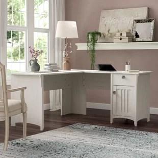 L Shaped Desk With Shelves