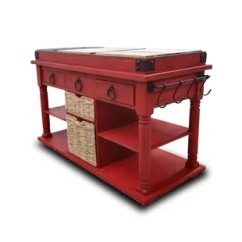 Red Kitchen Islands Cart Drop Leaf Carts You Ll Love Wayfair Quickview