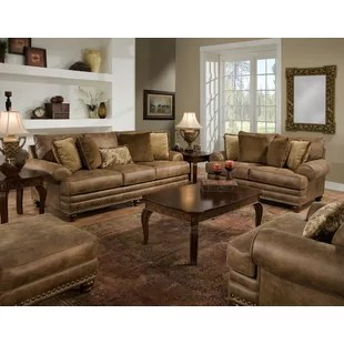 leather sofa sets for living room how to organize your you ll love wayfair claremore configurable set