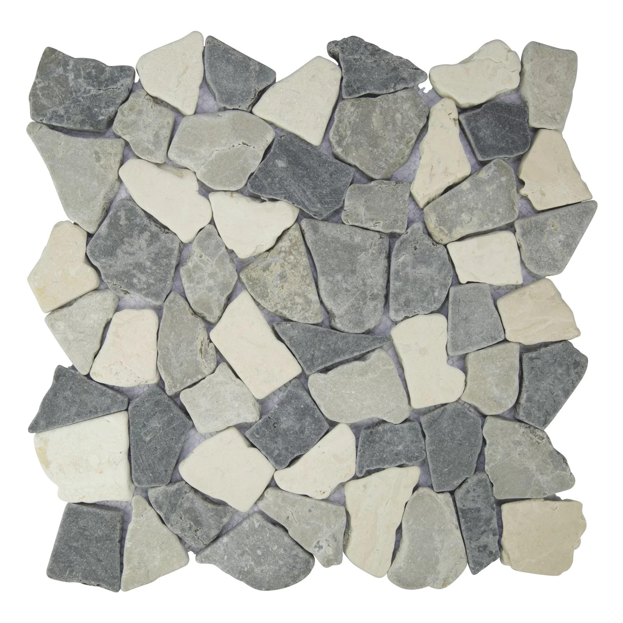 fit marble pebble mosaic tile