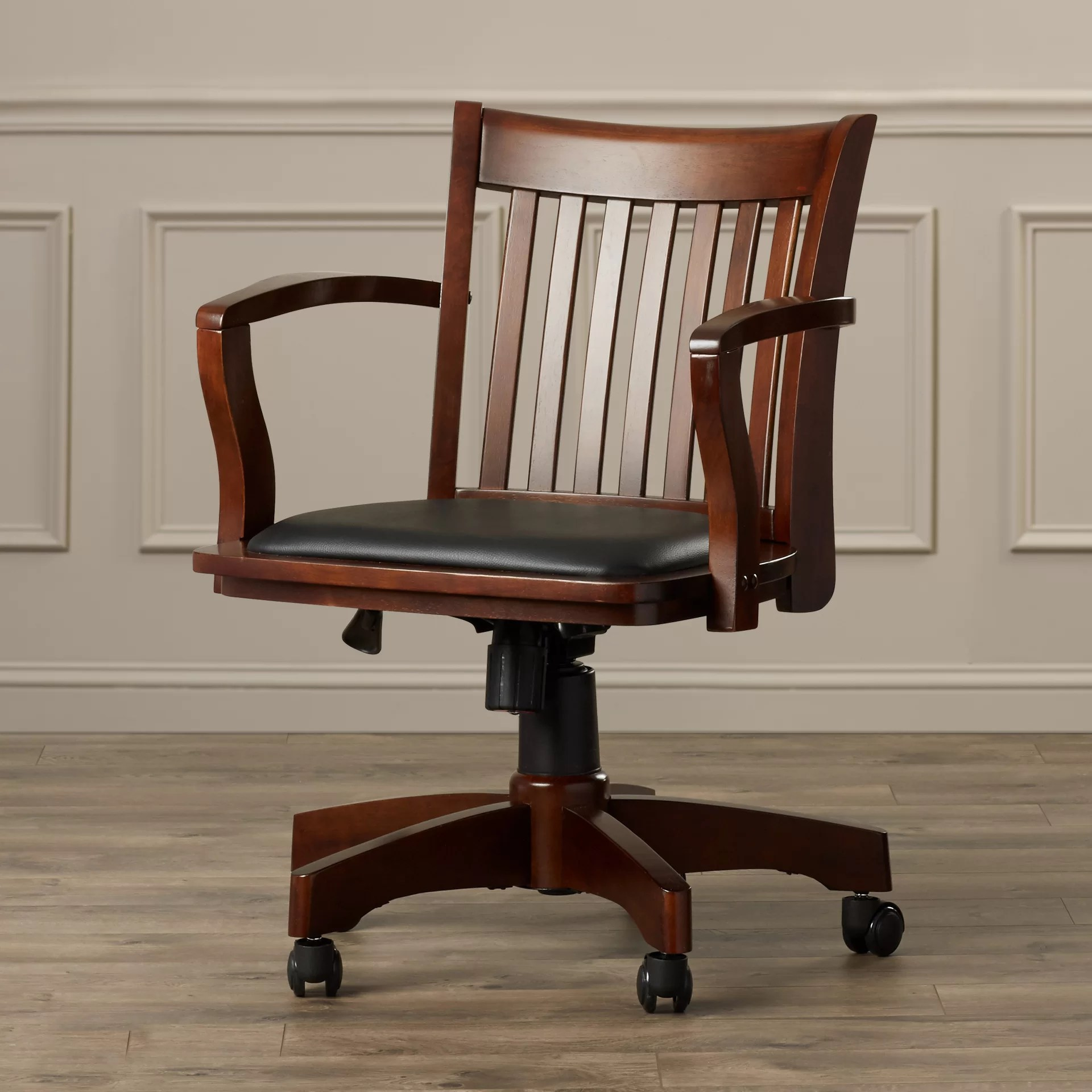 Wooden Bankers Chair Genevieve Mid Back Deluxe Bankers Chair