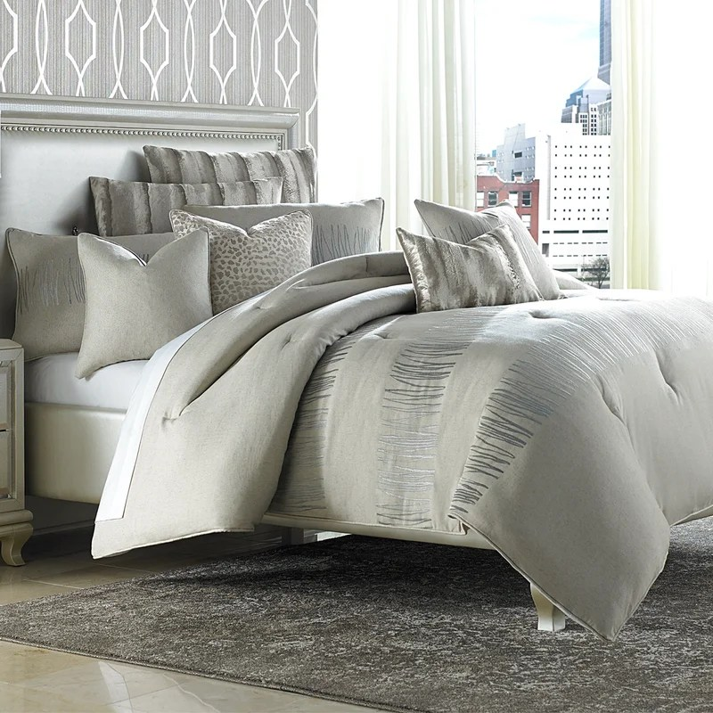 distinctive bedding designs captiva light tan 9 piece comforter set